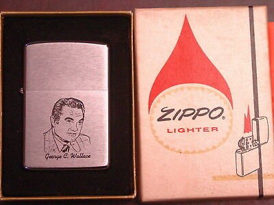 PRESIDENT Independent Candidate 1968 George C. Wallace Picture - Zippo 1975 MIB