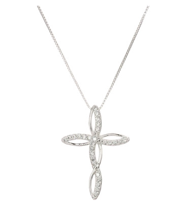 Cross Necklace Infinity Silver Pendant Women Jewelry Fashion 925 Sterling Silver