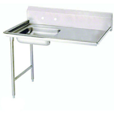 """Advance Tabco 72"""" S/s Undercounter Dishtable 16 Gauge w/ Stainless Legs"""