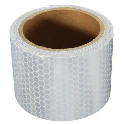 3M Car Safety Warning High Intensity Reflective Tape Roll Film Sticker White