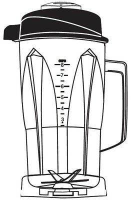 Vitamix 64 oz. / 2.0 Ltr.Polycarbonate Container W/ Ice Blade and lid