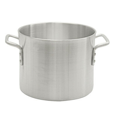 Thunder Group ALSKSP006 32qt Heavy Duty Aluminum Stock Pot w/ Mirror Finish