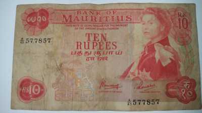 Mauritius Rs 10 note 1967- Pick 31c