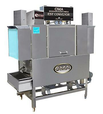 "CMA Dishmachines EST-44 44"" High Temp Conveyor Dishwasher 243 Racks/hr"