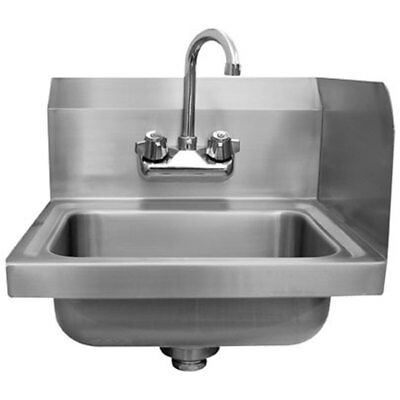 "Advance Tabco 14"" x 10"" Wall Mount Hand Sink w/ 7-3/4"" Right Side Splash"