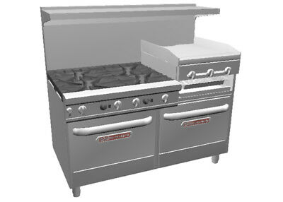 "Southbend Ultimate 60"" Large Burner Range w/ Griddle/Broiler & 2 Conv."