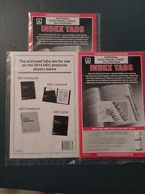 NFPA National Electric Code (NEC) 2014 Edition Index Tabs