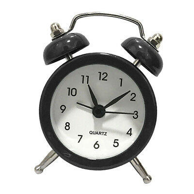 Black Cartoon Dial Number Round Desk Alarm Clock For Kids Bedroom Home Decor