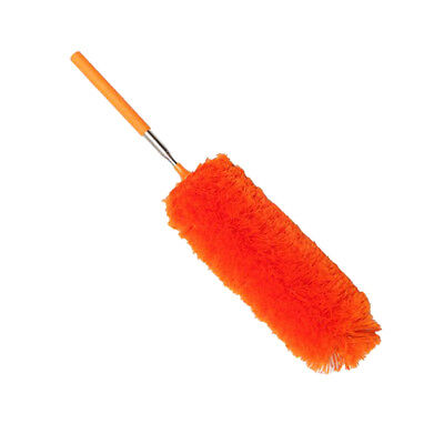 Microfiber Duster Hand Duster for Cleaning Car Computer Fan Table Orange