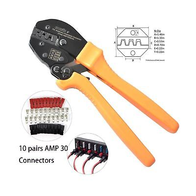 IWISS Ratcheting Wire Crimping Tool for Powerpole for 15,30 and 45 Amp Connec...