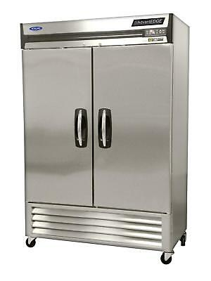 Nor-Lake NLF49-S 49cuft Stainless Steel Two Door Reach In Freezer