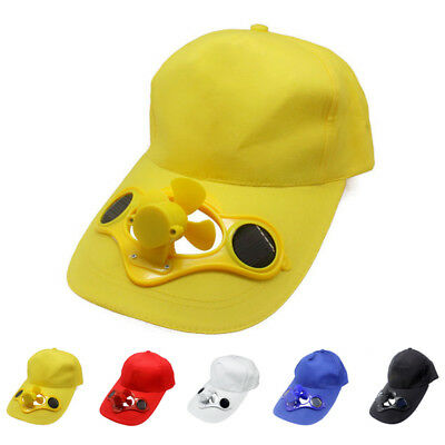 Cooling Solar Front Summer Suit Sun With A2 Fan Sport Cap Baseball Hat Powered