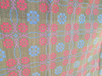 Antique Welsh Wool Penmachno tapestry Hannah Jones & Sons North Wales