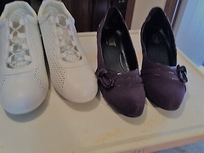shoes: Size 12 W, Comfortiew, bought at Woman Within, gently worn.