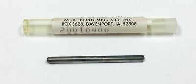 #37 .1040 Carbide Straight Flute Drill, M.A. Ford 20010400