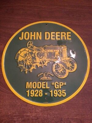 "John Deere Tin Sign Model ""GP"" 1928-1935"