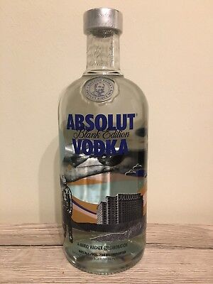 1 X Absolut Vodka Blank By Mario Wagner Limited Edition 40% 700Ml