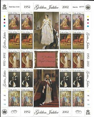 ISLE OF MAN 2002 GOLDEN JUBILEE (2nd ISSUE) SG 959-64 LARGE SHEET 20 MNH.