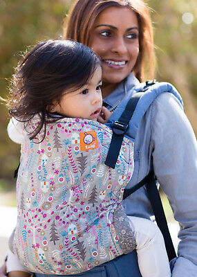 New Tula Ergonomic Carrier - 100% Cotton Toddler -Forest House Pattern