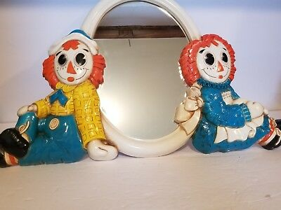 Vintage 1977 Raggedy Ann and Andy Mirror