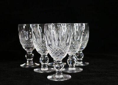 """Set of 6 Waterford Crystal COLLEEN Sherry Wine Goblets Glasses 4.25"""" 4 1/4"""""""