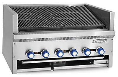 "Imperial Range IABS-36 Steakhouse 6 burner 36"" Countertop Charbroiler Gas"