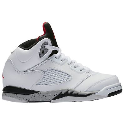 huge selection of 07375 a4a81 PRE SCHOOL SIZE Nike Air Jordan Retro 5 White/Cement Athletic Fashion  440889 104