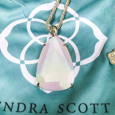 Kendra Scott Sandra Iridescent Large Stone Necklace Excellent Condition