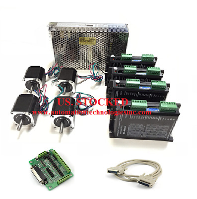 US Shipping 4 Axis Nema17 Stepper Motor 62oz.in 1.68A& Driver KL-4042D CNC Kit