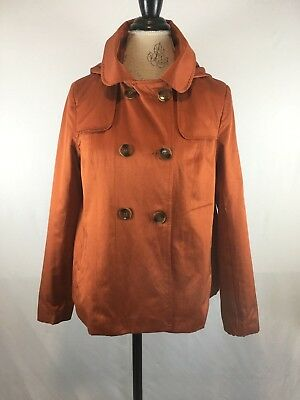 Women S Swing Jacket Pea Coat Forever 21 Hooded Button Down
