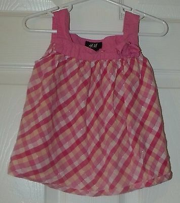 Toddler Baby Girl H&M Pink Sparkle Tank Top Size 1.5 Years to 2 Years