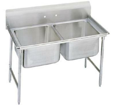 """Advance Tabco 9-2-36 2 Compartment Sink 18 Gauge 16"""" x 20"""" x 12"""" Bowls Stainless"""