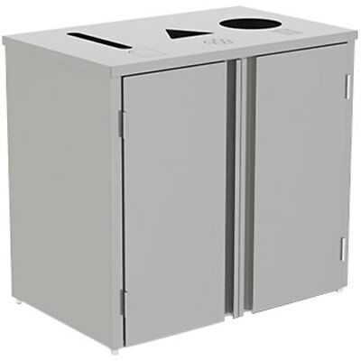 """Lakeside 3315 26-1/2""""Wx23-1/4""""Dx34-1/2""""H 69 Gallon Waste & Recycle Station"""