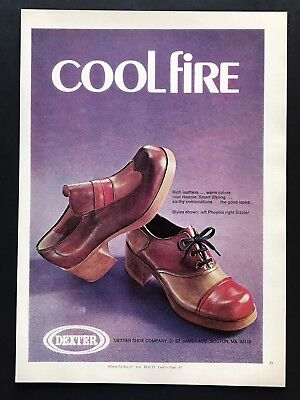 1973 Vintage Print Ad 70's Style DEXTER Men's Foot Fashion Leather Image Photo