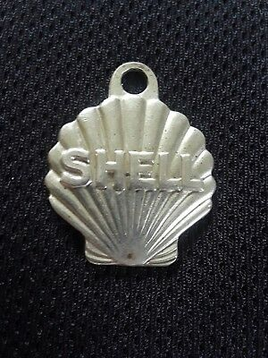 Vintage SHELL OIL AND GASOLINE KEY CHAIN  (RING) W/ MAIL POST RETURN IF LOST