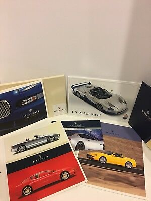 Maserati Spyder Coupe MC12 Brochures And Media Kits 2003 2004 2005 and more!