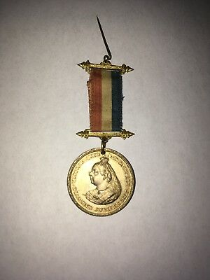 1897 Victoria Diamond Jubilee With Complete Flag Rare Collector Item