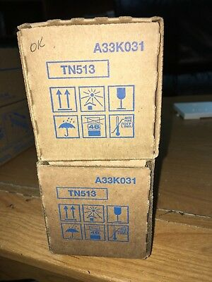 Lot Of 2 Genuine Konica BizHub TN513 Toner New in Box! A33K031