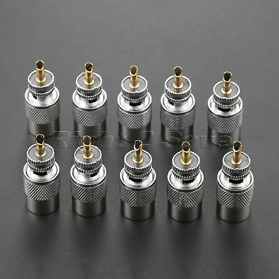 10Pcs UHF Male PL259 Connector Adapter Plug For RF coaxial cable RG8 RG213 RG165