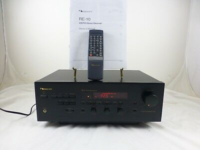 NAKAMICHI RE-10 AM/FM Stereo Receiver - Harmonic Time Alignment  Remote & Manual