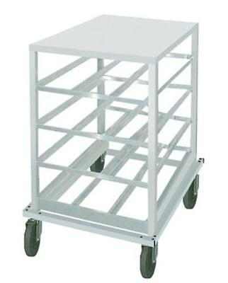 Advance Tabco CR10-72-X Mobile Aluminum Top Half Can Rack Holds (72) #10 Cans