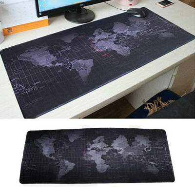 Cool World Map Edge Pattern Extended Gaming Mouse Pad Large Size Desk Mat 90*40