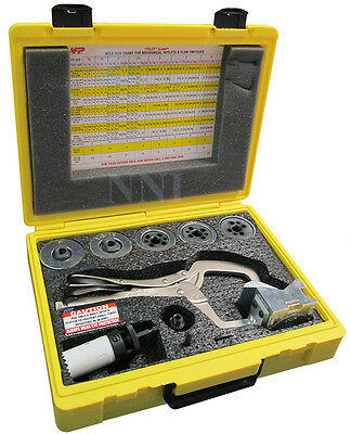 Hole Drilling Pilot Clamp Kit Locking Holesaw Guide with Case NFP FP200 USA MADE