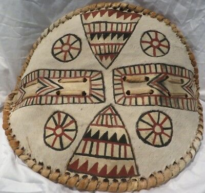 Beautiful Vintage Hand Made African Warriors Shield Jhe 44