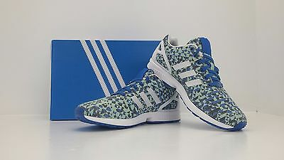 best website ad6fb f2208 ADIDAS ZX Flux Weave Blue/Wht/Blk B34474 Size 13 - BRAND NEW IN BOX