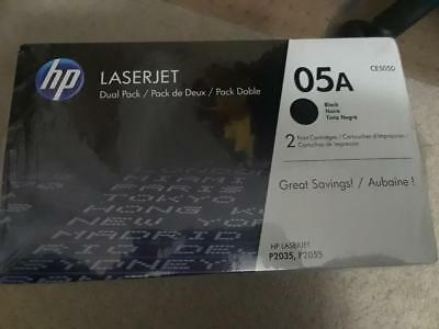 Brand New Hp Ce505D 05A Dual Pack Black Toner Cartridges Laser Jet P2035 P2035