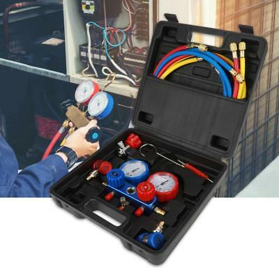 New R134a Air Conditioning Refrigerant Manifold Gauge Box Set with Accessories