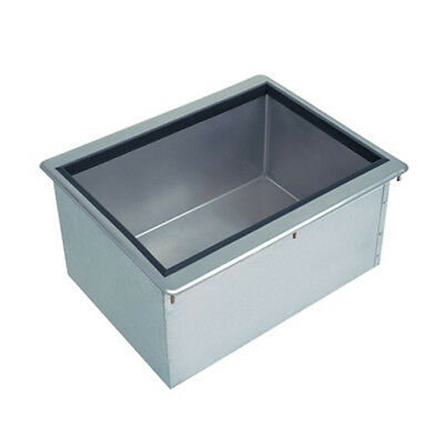 "Advance Tabco D-24-IBL-X 18"" Stainless Steel Drop-In Ice Bin 50lb Ice Capacity"
