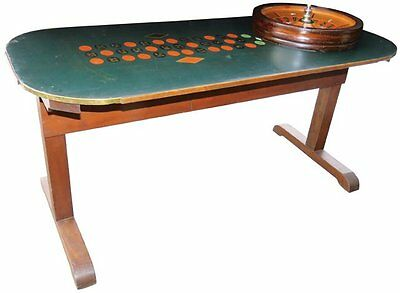 Excellent Original Oil-Cloth Roulette Table, ex-Museum, wheel not included