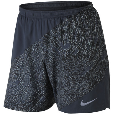 a64413cd9cee MEN S NIKE FLEX 7 inch Distance Blue Printed Running Shorts Lined Size S  Small -  30.00